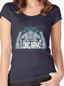 NEW YORK : LONG ARMS Women's Fitted Scoop T-Shirt