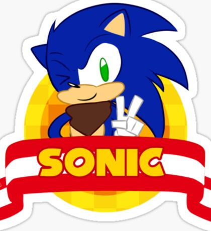 Sonic Boom - Chibi Sonic Sticker