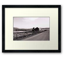 Desolate Barn Framed Print