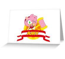 Sonic Boom - Chibi Amy Greeting Card