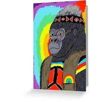 Cornelius the Hippie Gorilla Greeting Card