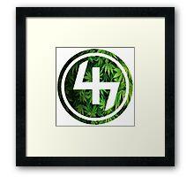 47 (4th and 7th Chakra) Weed Marijuana Framed Print