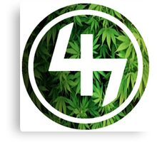47 (4th and 7th Chakra) Weed Marijuana Canvas Print