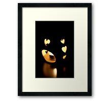 heart burning bright Framed Print