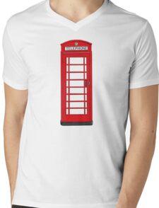 London Phone Box Mens V-Neck T-Shirt