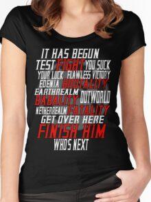 mortal kombat x  Women's Fitted Scoop T-Shirt