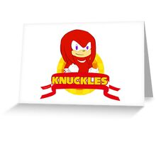 Sonic Boom - Chibi Knuckles Greeting Card