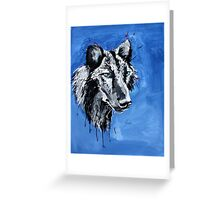 Black Wolf - Animal Art by Valentina Miletic Greeting Card