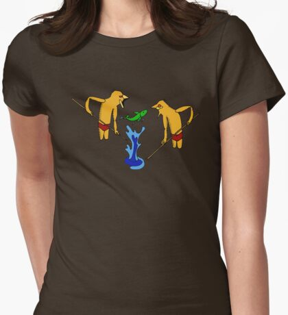 Dreamtime hunting Womens Fitted T-Shirt