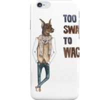 Hipster Dog Painting - watercolor dog art iPhone Case/Skin