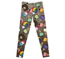 Chocolate Ombre Frosty Treats Leggings