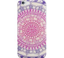 Pink Purple Gradient Mandala iPhone Case/Skin