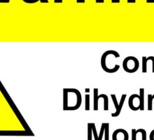 Chemical Warning Sign: Dihydrogen Monoxide Sticker