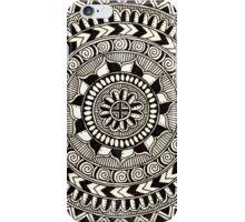 Black and White Hypnotizing Mandala iPhone Case/Skin