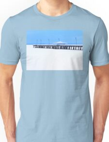 White and Blue Pier Unisex T-Shirt