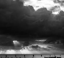 Dawn Cloudscape in Monochrome Sticker