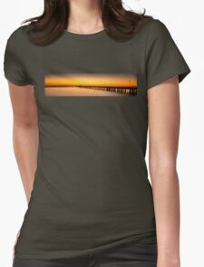 Shorncliffe Pier Silhouette Womens Fitted T-Shirt