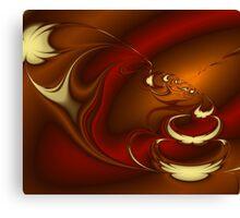 Latte Fractal Canvas Print