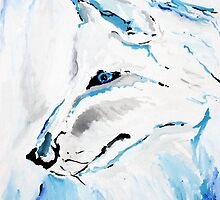 Winter Wolf - Animal Art by Valentina Miletic by Valentina Miletic