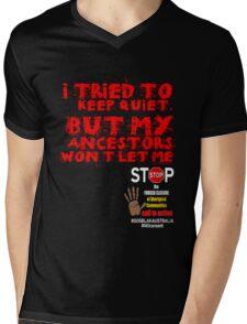 OFFICIAL MERCHANDISE - #SOSBLAKAUSTRALIA design 6 Mens V-Neck T-Shirt