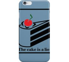 The cake is a lie iPhone Case/Skin
