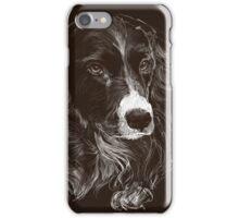 Black Collie Cross (phone case) iPhone Case/Skin