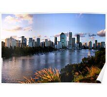 Brisbane City & River Poster