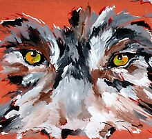 Wolf Face - Animal Art by Valentina Miletic by Valentina Miletic