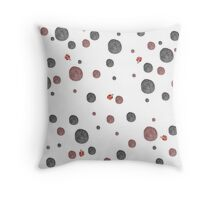 Ladybugs Watercolor Dots Throw Pillow