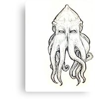 Elder God tentacled face Canvas Print