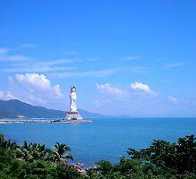 Buddha statue, Hainan Island, China by Robert La Bua