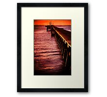 Beachport jetty at sunrise with texture Framed Print