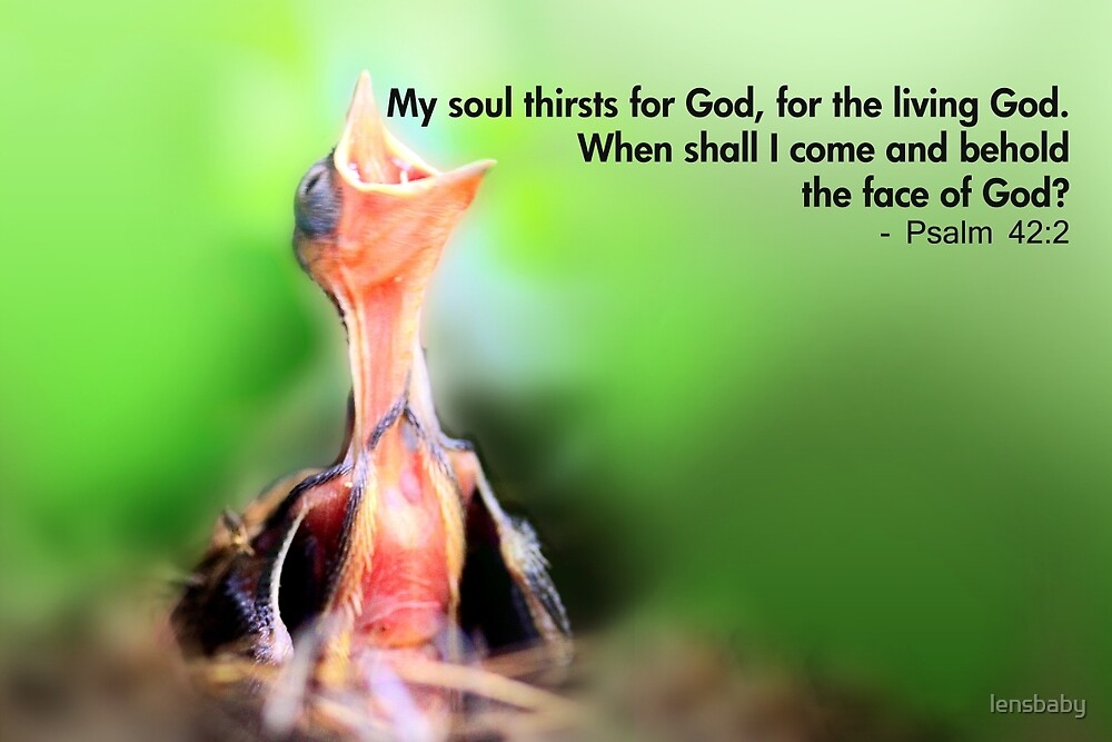 My Soul Thirsts for God by lensbaby