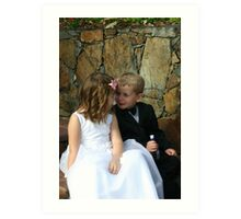 page boy and flower girl Art Print