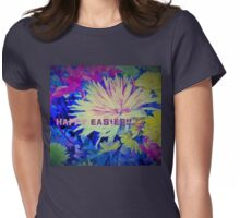 Floral Easter Card Womens Fitted T-Shirt