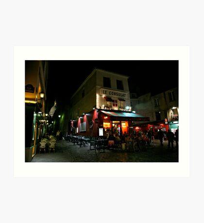 Night Streetscape Art Print