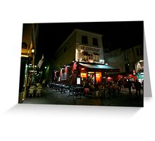 Night Streetscape Greeting Card