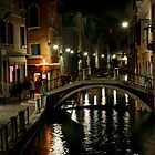 Venice Canal at Night by swight