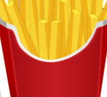 Addicted To French Fries Sticker