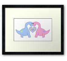 Adoring Apatosaurus Framed Print