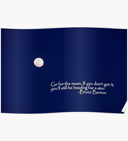 Go for the Moon Poster