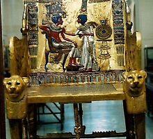 Egyptian Museum, King Tutankhamun  Chair by ishtarsands