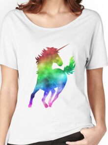 Rainbow Galaxy Unicorn Women's Relaxed Fit T-Shirt