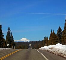 The road to Mt. Lassen by Edward Henzi