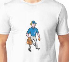 Gardener Landscaper Leaf Blower Cartoon Unisex T-Shirt