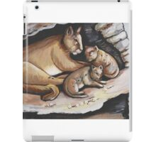 Mountain Lion And Cubs iPad Case/Skin