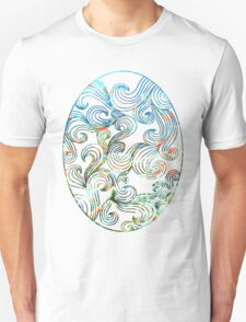 Abstract Ocean Waves Unisex T-Shirt