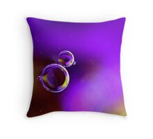 purple and yelllow droplets Throw Pillow