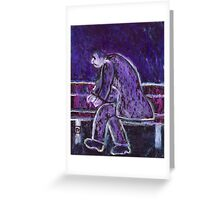 A man taken ill  Greeting Card