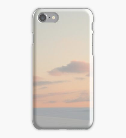 Sunset Over Snowy Barns iPhone Case/Skin